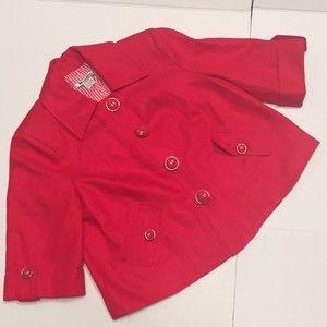 Nygard Crop Woven Spring Jacket Deco Mod Buttons 6